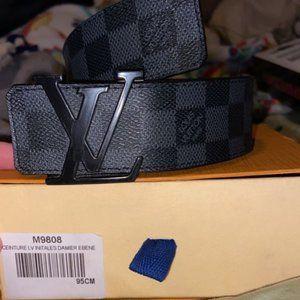 Louis Vuitton black Damier Belt  [size 95Cm]